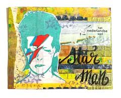 CZC32 / mail art Star Man (Miss Thundercat) Tags: collage bowie handmade swap rubberstamp davidbowie starman handcarvedstamp swapbot