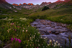 A New Day - American Basin (Steadfast Christian) Tags: americanbasin paintbrush colorado sanjuanmountains nature stream wildflowers sunrise landscapephotography god creation christian hiking adventure camping alpine explore