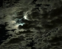 Demon in the sky? (Canadian Dragon) Tags: sky moon canada face monster night clouds bc nanaimo september vancouverisland backlit 2015