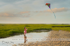 Go fly a kite - explored (betty wiley) Tags: ocean sea kite beach girl coast seaside sand toddler child wind capecod massachusetts newengland coastal marsh brewster painescreek bettywileyphotography