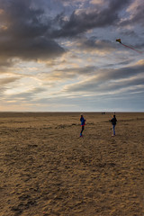 Kite flying at sunset (tabulator_1) Tags: beach kites ainsdale southport