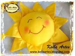 ALMOFADA SOL (KEILARTES) Tags: sunshine nuvem de amor decorao almofada sol mbile boneca feltro keilaartes lembrancinhaaniversrio personalizados