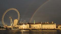 Rainbow Over County Hall 1 (cherylea_cater) Tags: london thames river rainbow boattrip shard countyhall teamnight