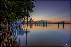 Florida Life: Cicada Sunset (Thncher Photography) Tags: longexposure sunset sky beach nature clouds landscape outdoors pier florida sony scenic stuart tropical fullframe fx mangroves intracoastal waterscape indianriver jensenbeach hutchinsonisland southeastflorida zeissfe1635mmf4zaoss a7r2 ilce7rm2 sonya7r2