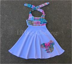 minnie plaid (Lil' Bug Clothing) Tags: mouse dress knit minnie plaid halter