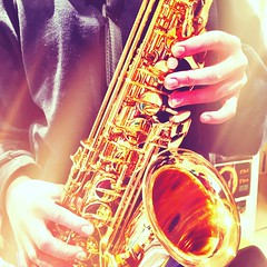 Saxophone! (MoMontyMisty) Tags: sax saxophone light music play sound happy