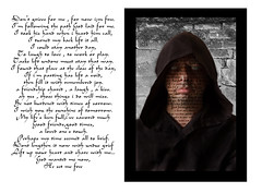 Death poam (rockindave1) Tags: death deathpoem hoodie text fonts canoneos5dmark2 adobeelements13 words face eyes lips chin mouth