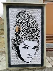 mutant560 (ill stencils) Tags: streetart pasteup poster chains stencil iran lock wheatpaste hijab ill hairstyle tabriz