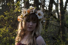 Aside II (keskinenj) Tags: trees plants sun plant tree cute green nature girl tattoo forest natural longhair meadow tattoos eugene ferns universityoforegon eugeneor eugeneoregon fae autzen fairie