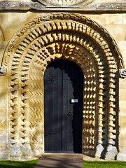Oxford (Iffley), Oxfordshire (Oxfordshire Churches) Tags: uk england doors unitedkingdom churches norman panasonic oxford romanesque zigzag oxfordshire anglican doorways cofe iffley chevrons churchofengland mft beakheads micro43 microfourthirds lumixgh3 ©johnward
