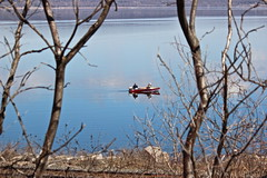 A Couple Who Cast Together... (Jeanne W Pics) Tags: sunlight lake nature water sunshine minnesota river boat fishing midwest mississippiriver fishingboat lakepepin maplesprings