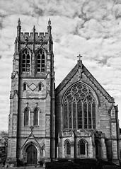 Grace Episcopal Church (LotusMoon Photography) Tags: windows bw church window monochrome architecture temple religion walls spirituality blacknwhite happywindowwednesday