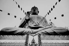 แม้ว่าท้องฟ้าไม่สวยใสในวันนี้ แต่องค์พระยังสวยงดงามเสมอ #สาธุ #Doisaket temple #thai #temple #chiangmai #thailand #ดอยสะเก็ด