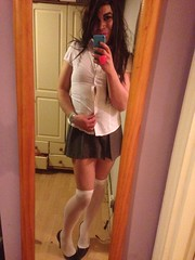 IMG_2491 (Priya Lloyd TV) Tags: pose pretty legs cd skirt tranny transvestite schoolgirl crossdresser crossdress