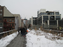 High Line Snow Covered Railroad Overpass Tracks to Nowhere 8632 (Brechtbug) Tags: road park street new york city nyc railroad winter urban snow streets west art architecture garden way design march high downtown gallery path walk manhattan district balcony packing side nowhere tracks overpass rail pedestrian mini el meat line midtown covered mezzanine transportation boardwalk former elevated blizzard derelict reclamation highline skyway redesign the remodeled 2015 03072015