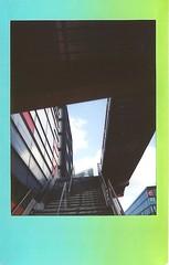 Percée (byNath) Tags: rainbow couleurs lille géométrie lignes immeuble urbain instax instantané fujiinstaxmini90néoclassic