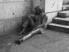 ::::: Why So Sad? ::::: (mark.lief) Tags: blackandwhite norway statue homeless streetphotography depression bergen blacknwhite travelphotography