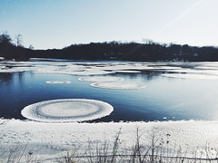 Before it was completely frozen (explored on April 14th, 2015) (ExceptEuropa) Tags: life park travel winter lake snow ice water photography frozen md maryland greenbelt everyday iphone greenbeltlake vsco iphonephotography iphoneography iphone5s vscocam