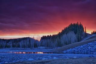 Sunrise Elbow valley landscape