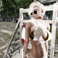 """Addison """"Beachin' It""""_042aw (Addy Summerwind, Photographer (Taking Clients)) Tags: summer beach sunglasses photoshop portraits outdoors sand outdoor selfportraits sl secondlife swimwear postprocessing summerwindstudios obesessionexposedstudios obsessionexposedgardengallery"""
