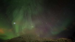 aurora over lyngenfjord - timelapse (christian.denger) Tags: snow alps tree norway studio landscape eos lights video time norwegen aurora fjord northern walimex lapse pinnacle borealis 6d 14mm lyngen zeitraffer