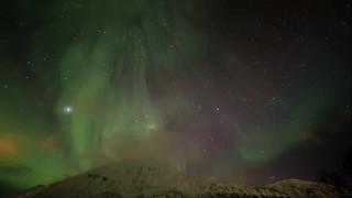 aurora over lyngenfjord - timelapse