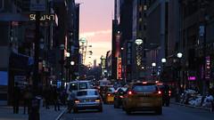 Diamond District sunset (@harryshuldman) Tags: street new york city nyc light sunset west macro canon rebel bokeh manhattan district 100mm diamond midtown dslr 47 47th t3i