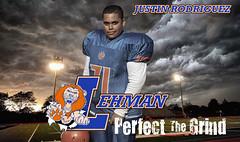 Justin On Field- (arod544) Tags: justin football bronx lions lehman highschoolfootball jrod lehmanfootball lehmanlions