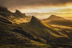 Light and Landscape collide on Skye (Vemsteroo) Tags: morning light skye nature beautiful sunrise landscape dawn scotland highlands fuji isleofskye dramatic fujifilm peninsula epic trotternish quiraing xseries thequiraing beautyinnature xt1 1024mm
