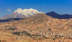 La Paz,Bolivia (Never House) Tags: plaza city espaa mountain snow america canon de la montana south nieve paz bolivia ciudad el sur alto 550d 55250