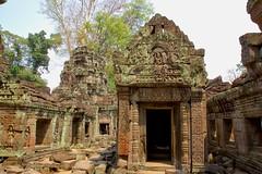 Preah Khan temple near Siem Reap, Cambodia (UweBKK ( 77 on )) Tags: park history ancient ruins cambodia kambodscha sony temples siem reap historical khan alpha dslr angkor archeology 77 slt archeological preahkhan preah