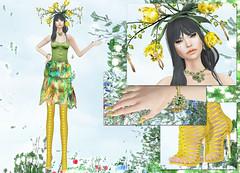 Masoom - Blossom dress (Rehana MiSS SLVietnam, Face of CHOP ZUEY 2015) Tags: fashion secondlife empire ultra laboheme masoom rehana lode anga maitreya slink chopzuey amitomo rehanaseljan