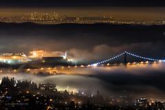 Midnight Inversion ~ Vancouver, BC (Michael Thornquist) Tags: canada fog vancouver britishcolumbia pacificnorthwest stanleypark inversion lionsgatebridge northvancouver pnw canadaplace vancouverbc westvancouver vancity gvrd northvan metrovancouver westvan vancouvercanada vancouverisawesome explorecanada ilovebc vancitybuzz foginversion burrarinlet fogcouver veryvancouver photos604
