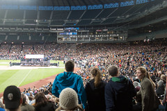 Bernie Again (10 of 13) (evan.chakroff) Tags: seattle field washington election unitedstates baseball stadium political politics rally crowd presidential safeco candidate safecofield bernie primary sanders march25th 2016 berniesanders primaryseason feelthebern