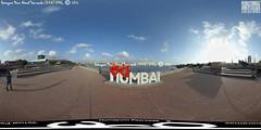126th of India & 57th Virtual Panorama of Love Mumbai, Art Installation, Mumbai, Bandra Reclamation Promenade, Bandra, Maharashtra - India @ Humayunn Niaz Ahmed Peerzaada (Humayunn Niaz Ahmed Peerzaada) Tags: panorama india love maharashtra mumbai artinstallation asianpaints virtualpanorama hanifkureshi lovemumbai startindia ricohthetas hiteshmalaviya