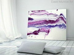 Pareidolia by David Munroe (http://www.davidmunroeart.com/blog.html) Tags: pink blue white abstract david art rock stone modern painting flow video paint artist purple crystal contemporary munroe canvas fluid amethyst geology minimalism geode gem