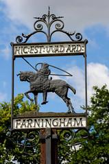 Farningham sign (Tomas Burian) Tags: kent vilage farningham
