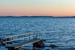 Seascape (Antti Tassberg) Tags: sea beach finland lens landscape prime spring helsinki 100mm shore mole lauttasaari ranta uusimaa kevt laituri laru