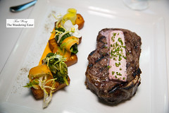 Bone-in Kansas City strip, Benne seed panisse, creamed kale, marrow butter (thewanderingeater) Tags: atlanta dinner georgia buckhead finedining restauranteugene