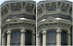 Bay (San Francisco in stereo) Tags: sanfrancisco 3d victorianhouse stereophotograph crossview perioddetails