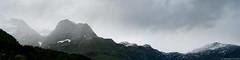 Mountain range in Ofoten (iheresss) Tags: f14 sony foggy 85mm bogen mountainrange carlzeiss ofoten planart a7r