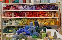 Yarn Rainbow (skipmoore) Tags: yarn sausalito weaving alexandrafriedman winteropenstudios
