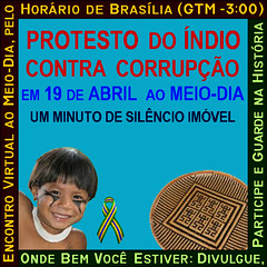 Protesto Do ndio - 19 de Abril - Paralisao Contra Corrupo - ao Meio-Dia (Somel Serip Inventor) Tags: brasil riodejaneiro br 19deabril paralisaocontracorrupo somelseripinventor protestodondio