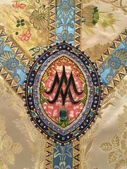 Ave Maria! (Lawrence OP) Tags: monogram mary jewels avemaria chasuble vestment holyname