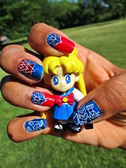 Happy 4th of July (flores272) Tags: bunny toy toys outdoors actionfigure nails manicure sailormoon usagi sarena fourthofjulynails bms307 bunddlemonster