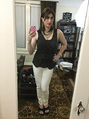 Brunette in White Jeans (SecretJess) Tags: girls girly cd femme tgirl lgbt transvestite casual trans crossdresser crossdress gurl tg bigender genderfluid girlslikeus