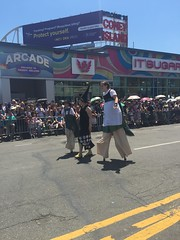Coney Island Mermaid Parade (Cait_Stewart) Tags: nyc newyorkcity newyork coneyisland island parade mermaid coney mermaidparade stilts iphone coneyislandmermaidparade