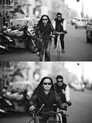 [La Mia Citt][Pedala] (Urca) Tags: portrait blackandwhite bw bike bicycle italia milano bn ciclista biancoenero bicicletta 2016 pedalare dittico 85562 ritrattostradale nikondigitalemir
