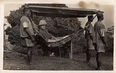 [1620 x 1026] British Army officer travelling in a hammock - Sierra Leone 1920 #HistoryPorn #history #retro http://ift.tt/1UqjauJ (Histolines) Tags: travelling history army x sierra retro hammock timeline british leone officer 1920 1620 1026 vinatage historyporn histolines httpifttt1uqjauj
