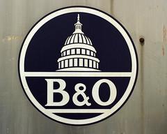 B&O. (Joseph Skompski) Tags: old railroad signs sign train rust rusty maryland trains baltimore bo oldsign railroadmuseum baltimoremd borailroadmuseum borailroad